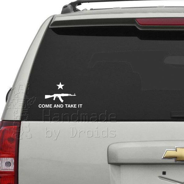 """Come and Take It"" AK-47 Vinyl Decal"