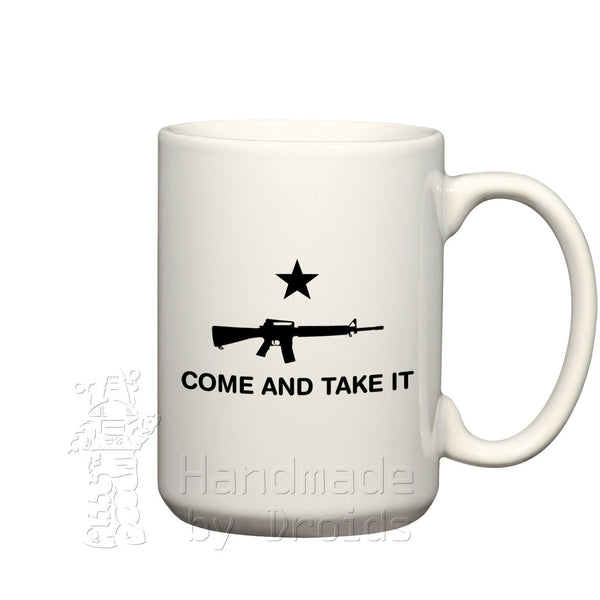 """Come And Take It"" AR-15 (15oz) Coffee Mug"