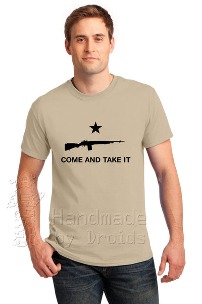 """COME AND TAKE IT"" (M-1A / M-14) Tan Tee"