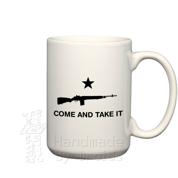 Come and take it ceramic coffee mug rifle springfield m1a m14