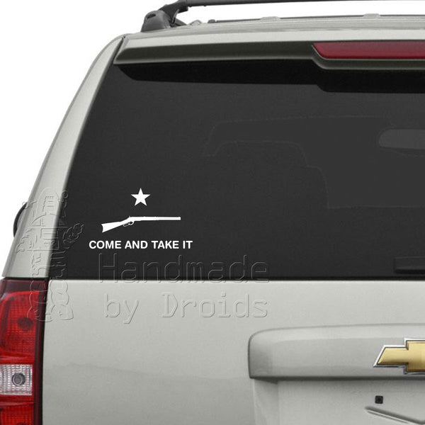 """Come and Take It"" Winchester 1894 Vinyl Decal"