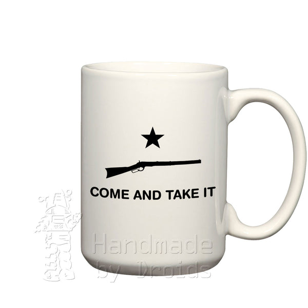 Come and take it ceramic coffee mug rifle winchester lever-action
