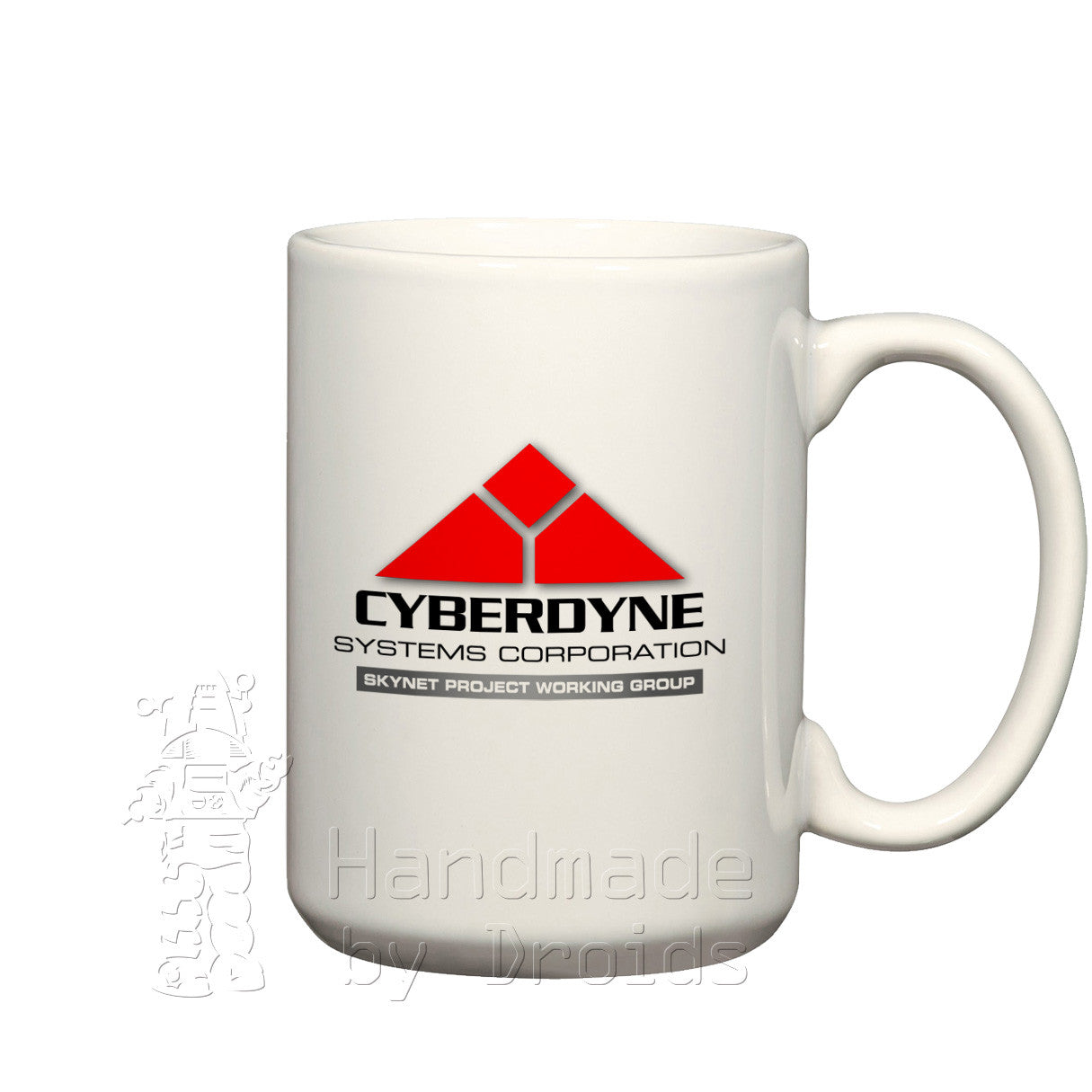 Cyberdyne Systems corporate logo coffee cup