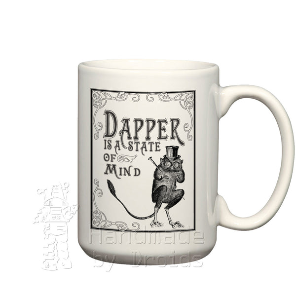 Dapper is a State of Mind Tarsier coffee cup
