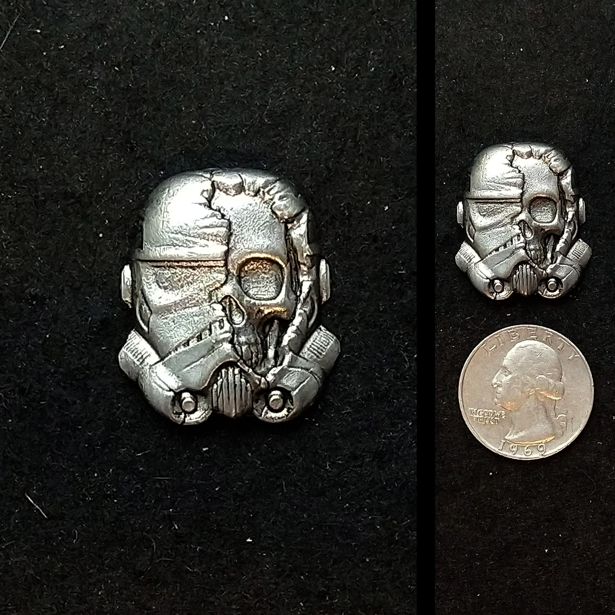 Zombie Storm Trooper Pewter Lapel Pin