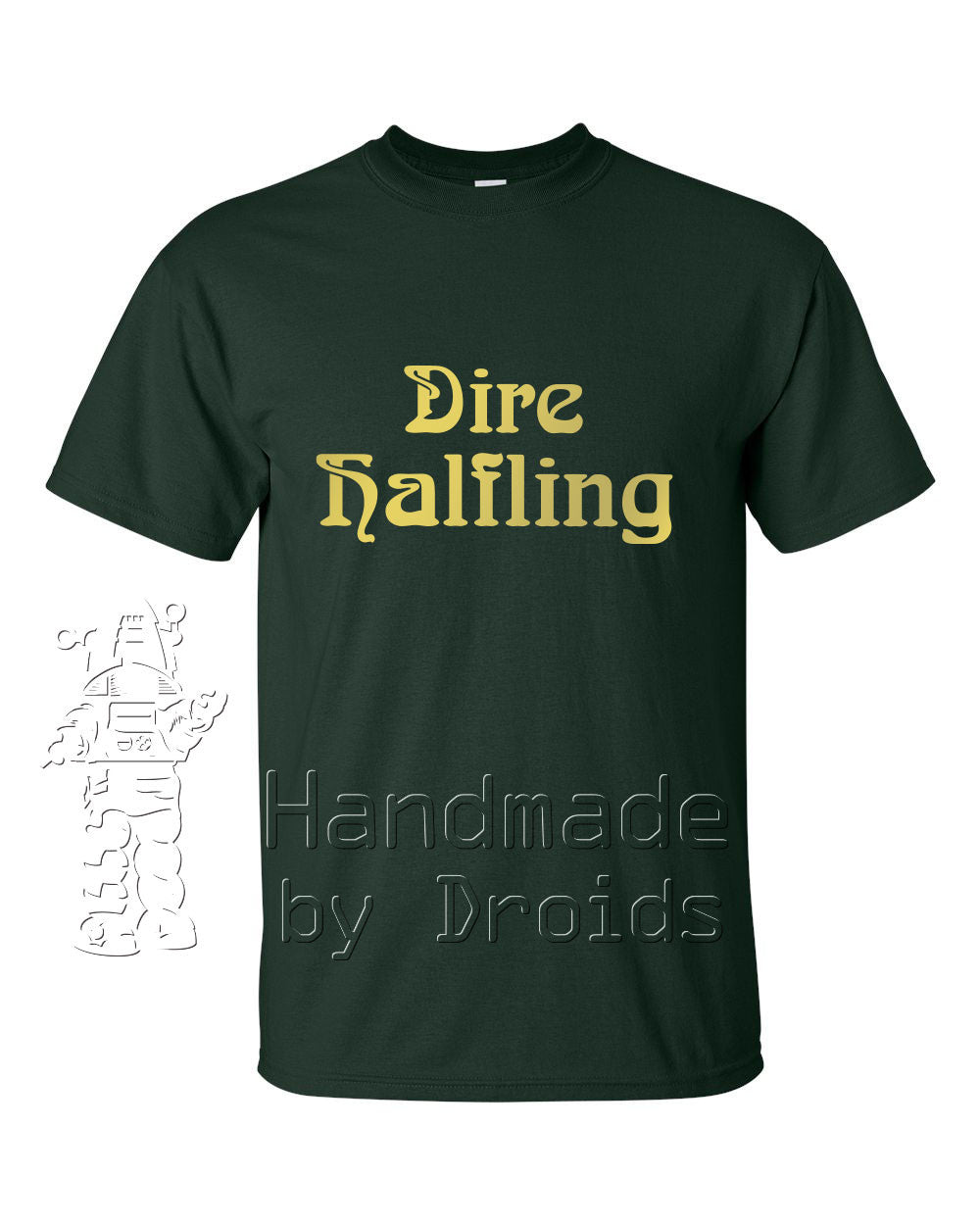 """Dire Halfling"" Forest Green T-shirt"