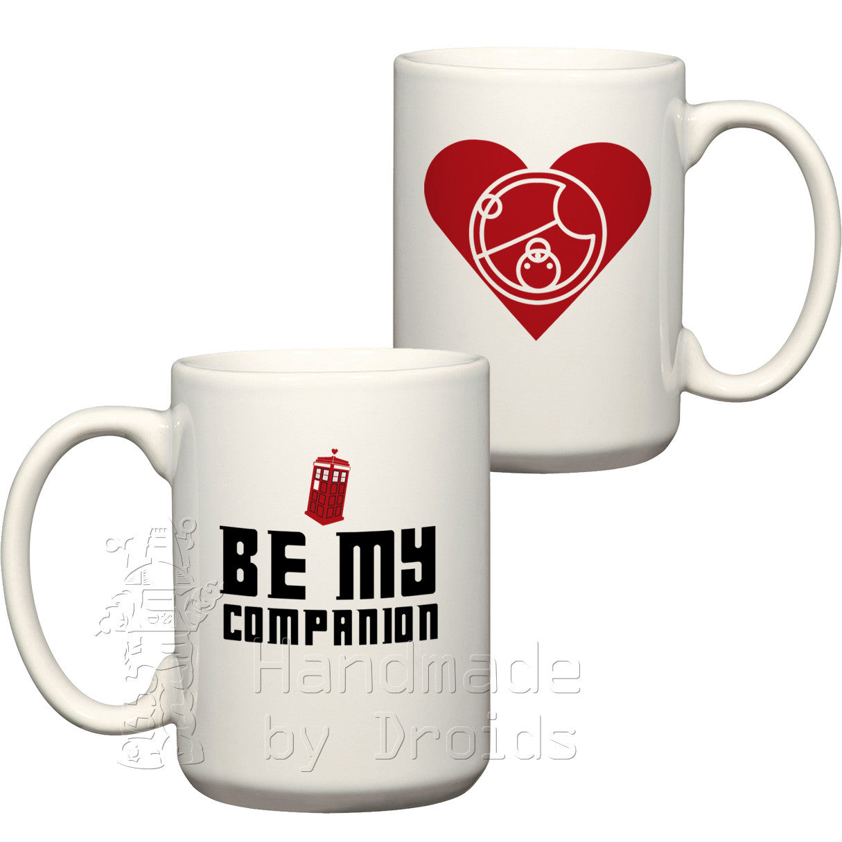"Doctor Who ""Be my companion"" romantic coffee cup red"