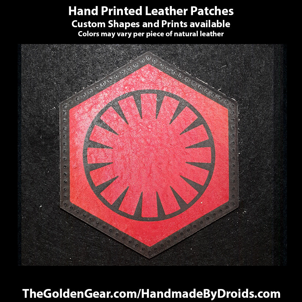 First Order (Star Wars) 3.8 inch Leather Patch
