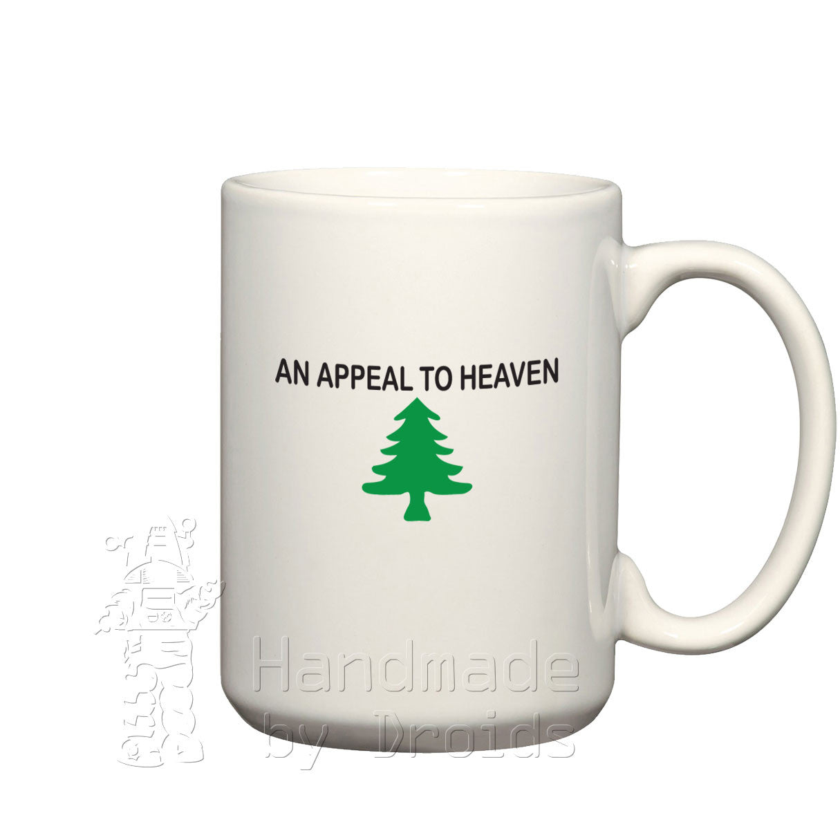 """An Appeal to Heaven"" Pine Tree Flag (15oz) Mug"