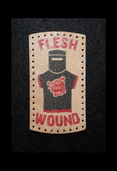 Flesh Wound (Monty Python) 3.8 inch Leather Patch