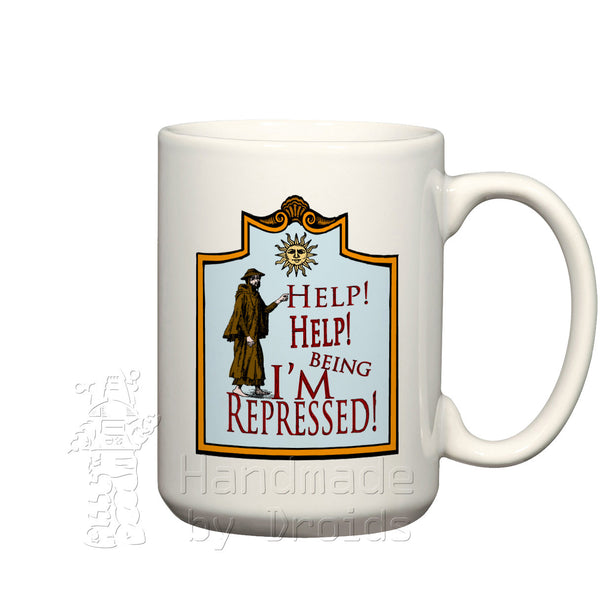 Monty Python Help I'm being repressed (15oz) Coffee Mug