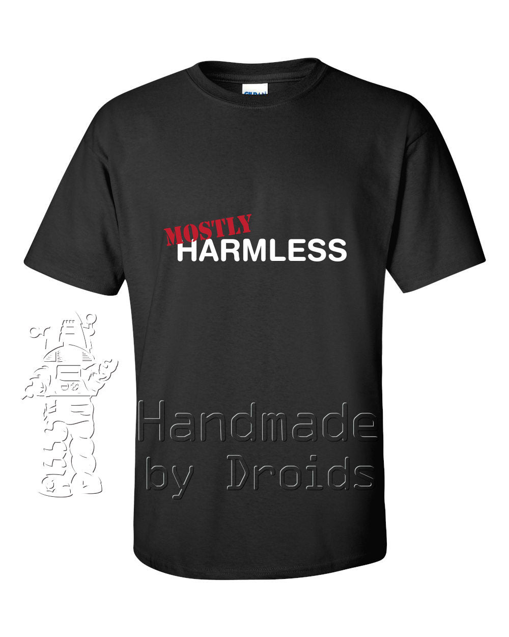 """Mostly Harmless"" Tee (black)"