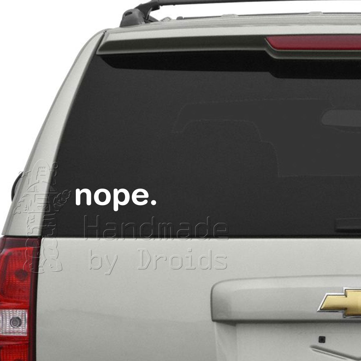 """nope."" Vinyl Decal"