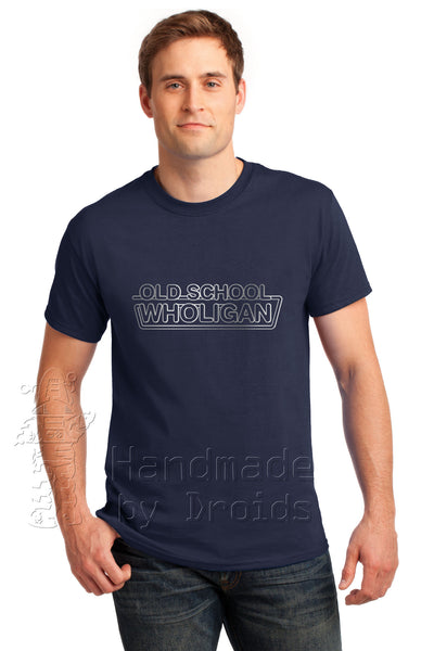 "Doctor Who ""Old School Wholigan"" Tee (Navy Blue)"