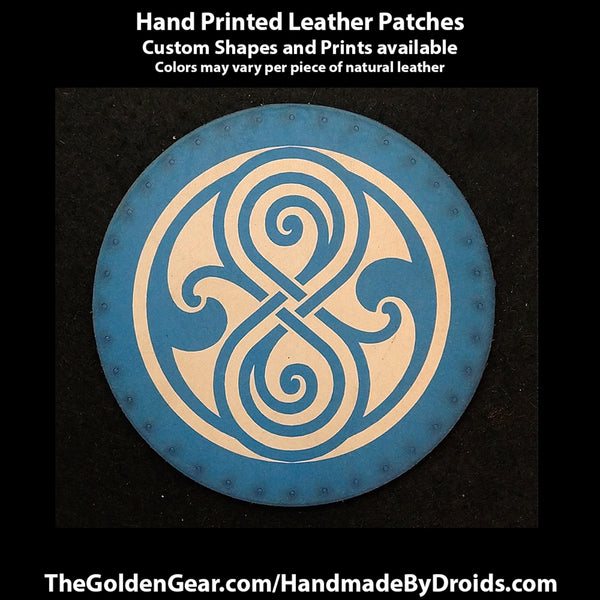 Seal of Rasilon (Dr Who) 3.8 inch Leather Patch
