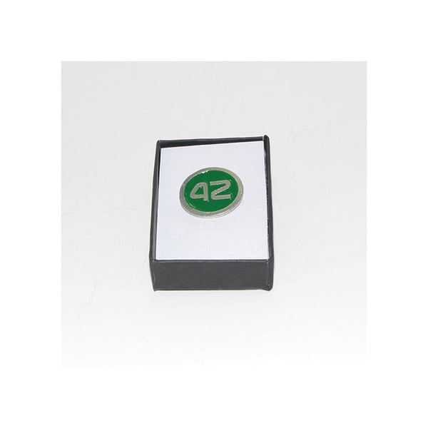 42 Pewter Lapel Pin (green)