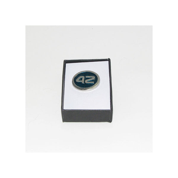 42 Pewter Lapel Pin (teal)