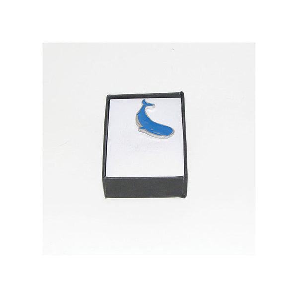 Blue Whale Pewter Lapel Pin