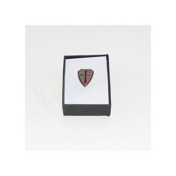 Crusader Shield Lapel Pin