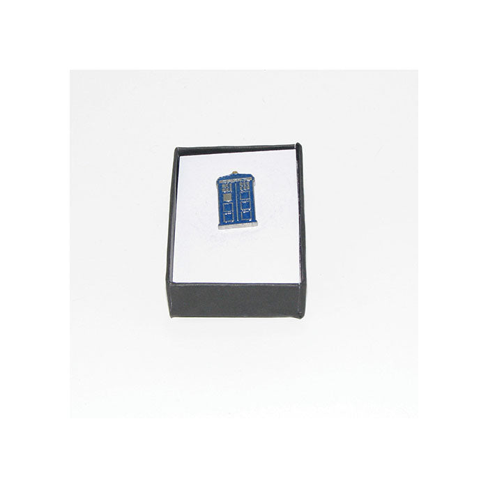 Police Box Pewter Lapel Pin