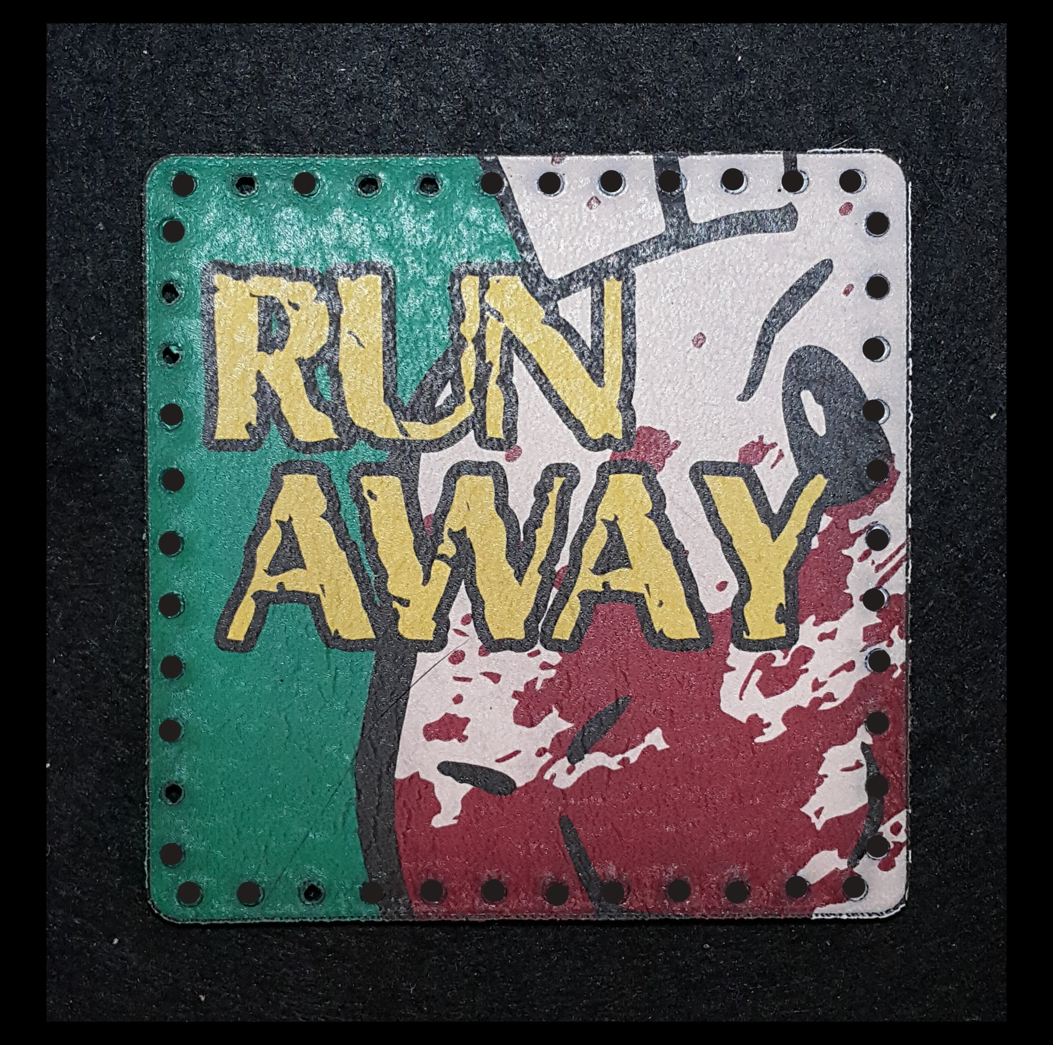 Run Away! Run Away! (Monty Python) 3.8 inch Leather Patch