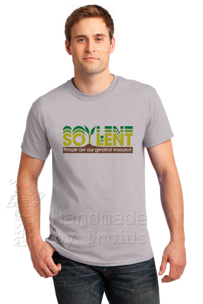 """Soylent ... People are our greatest resource"" Corporate Logo Tee (Ice Gray)"