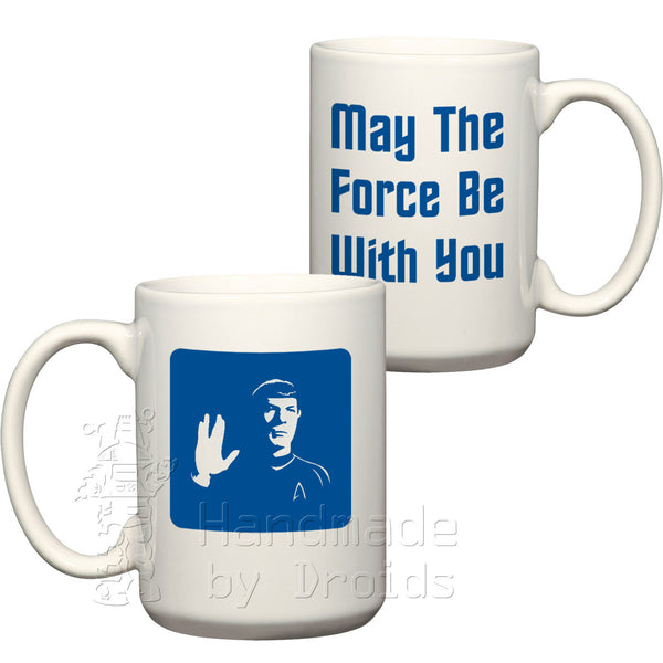 Spock May the force be with you (15oz) Coffee Mug