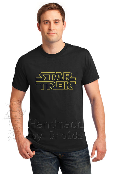 "Star Trek Wars ""STAR TREK"" logo tee (gold on black)"