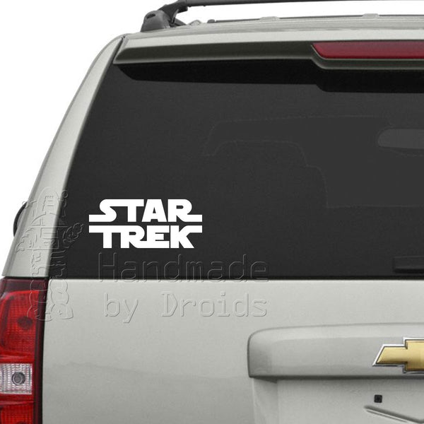 """STAR TREK"" Star Wars Logo Vinyl Decal"
