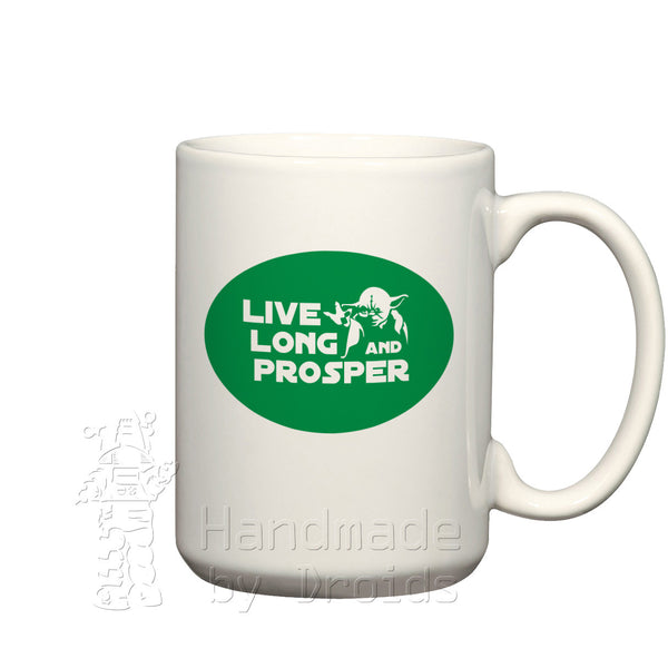 "Yoda ""Live Long and Prosper"" (15oz) Mug"