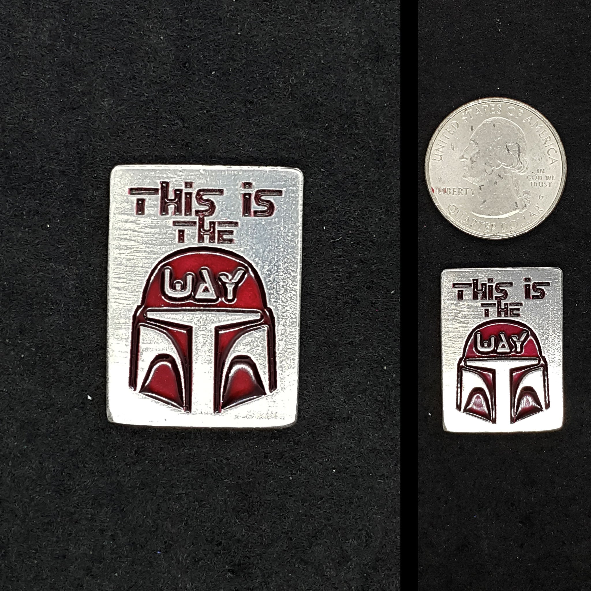 This is the way Pewter Lapel Pin