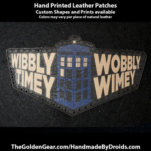 Time in Perspective (Dr Who) 4.5 inch Leather Patch