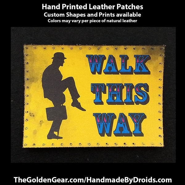 Ministry of Silly Walks (Monty Python) 4 inch Leather Patch