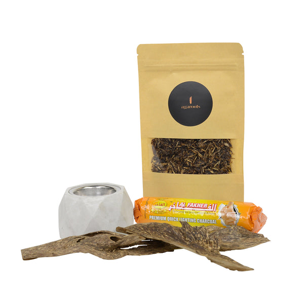 Burn Kit + Oil, AA Oud Chips & Mix Bakhoor - Agaroots