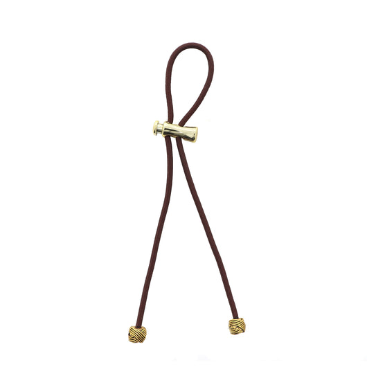 Pulleez PLUS Gold Knot on Brown - 13