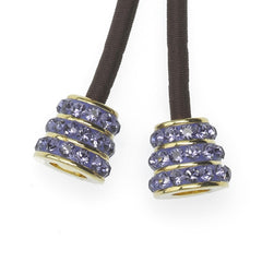 Bell Charms with Tanzanite Crystal