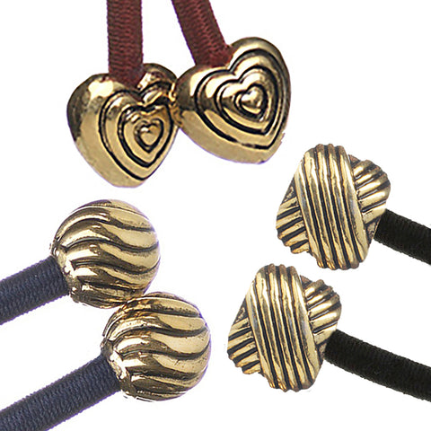 Heart, Swirl & Knot - Gold Set of 3