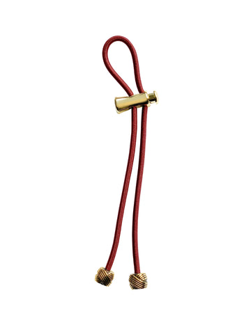 "Pulleez PLUS Gold Knot on Burgundy - 11"" cord"