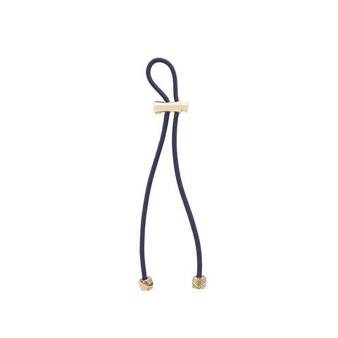 "Pulleez PLUS Gold Knot on Navy - 11"" cord"