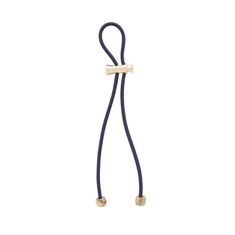 "Pulleez PLUS Gold Knot on Navy - 13"" cord"