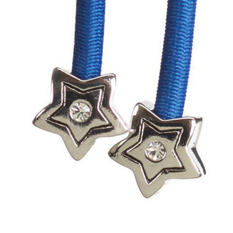 Star Silver with Crystal Accent on Blue