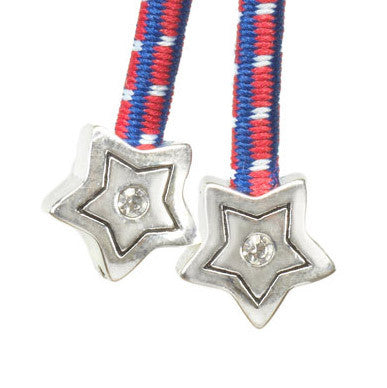 Metal Star SIlver Crystal Accent Multi-Color