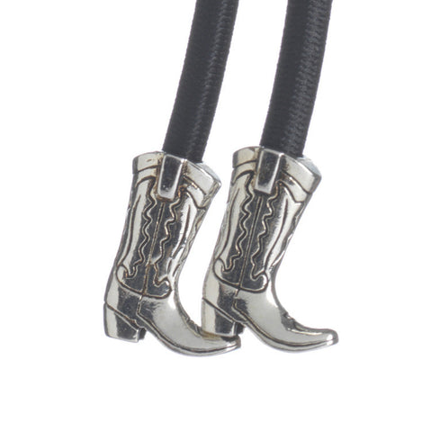 Cowgirl Boot Silver on Black