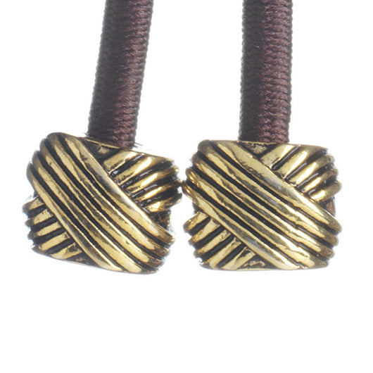 Metal- Knot Gold Brown