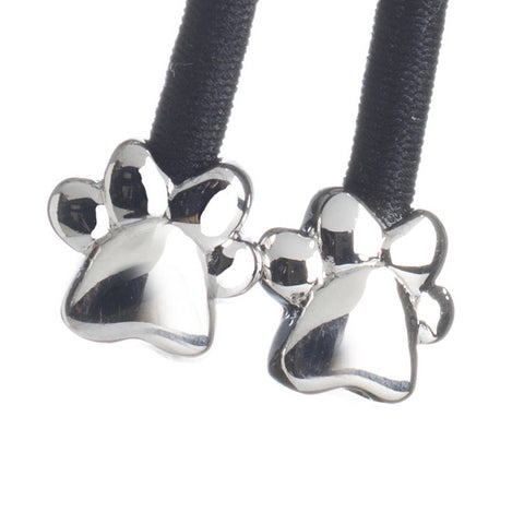 Paw Silver on Black