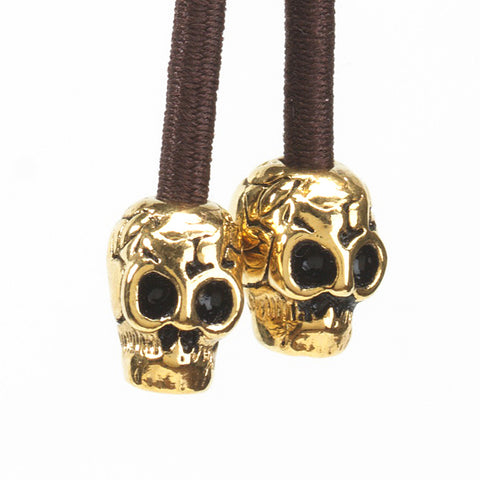 Skull Gold on Brown