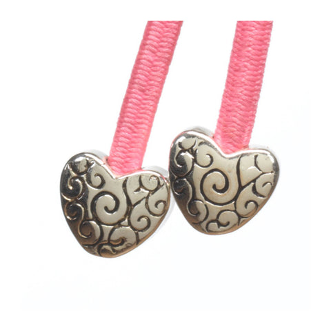 Heart Silver on Pink