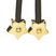 Star, Paw & Facet - Gold Set of 3