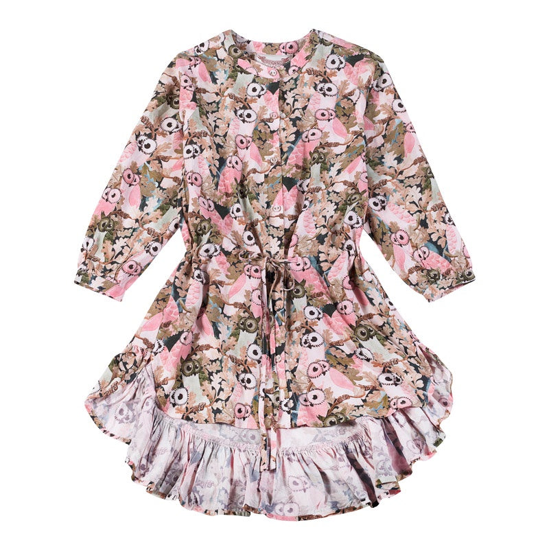 Paper Wings Shirt Dress - Owls