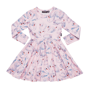 Rock Your Baby - Swans LS Waisted Dress